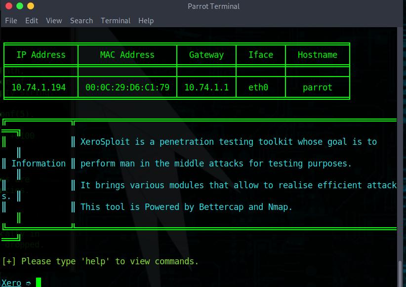 一起来玩内网神器Xerosploit